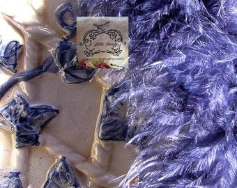 Navy Blue Short Haired Marabou Boa Feathers