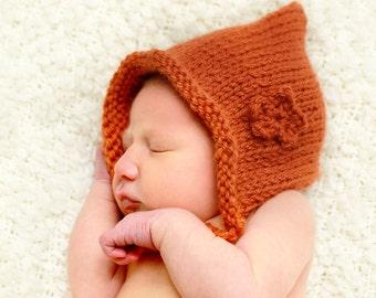 Rustic Bonnet Knitting Pattern