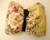 Shabby Chic Ralph Lauren Cotton Twin Fitted SHEET  -  yellow, Brooke, floral