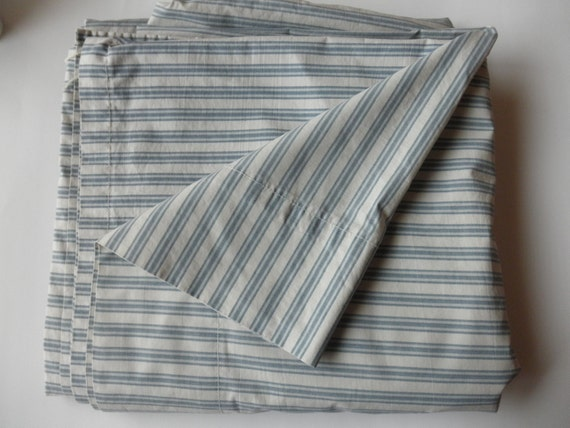 Striped Fabric Cotton King Flat SHEET- Ralph Lauren, designer