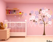 Vinyl Wall Sticker Decal Art - Cutesy Tree in the Wind