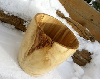 Knotty Maple Woodturned Vessel
