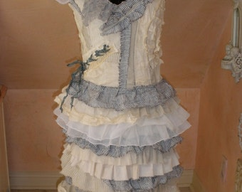 Oh So Naughty  Rag Doll Mummy Apocoliptic Dress Tattered with Raw Edges