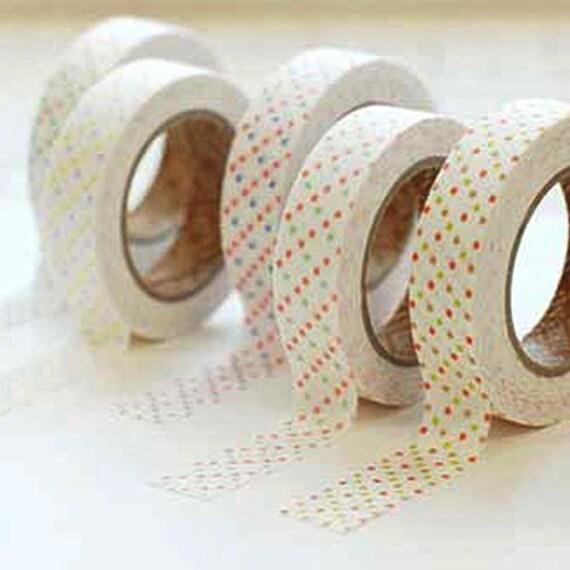 Sweet Mix Polka Dot Adhesive Fabric Tape (0.6in)