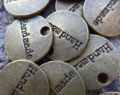 Metal  Personalization Embellishment Tags 25 Count Personalized Metal Tags Handmade Calling Card Handmade Pride Personalization Tags