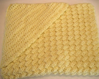 Hooded Crochet Baby Blanket
