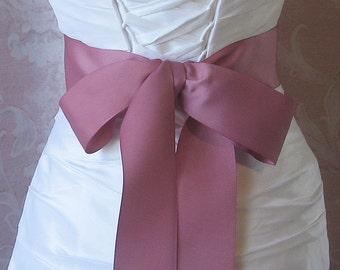 Dusty Rose, Mauve Grosgrain Ribbon, 2.25 Inch Wde, Ribbon Sash, Bridal Sash, Wedding Belt, 4 Yards