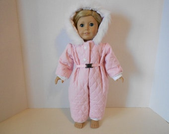 Quilted Snowsuit fits 18 inch Doll