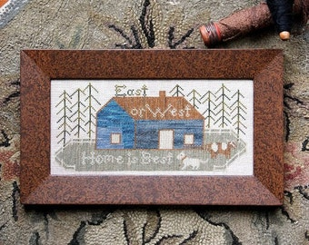East or West : Cross Stitch Pattern by Heartstring Samplery