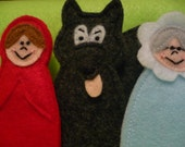 SAM Finger Puppets - Six Dollar Set - Little Red Riding Hood