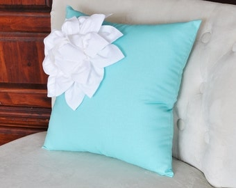 Decorative Pillows In Tiffany Blue : Popular items for tiffany blue pillow on Etsy