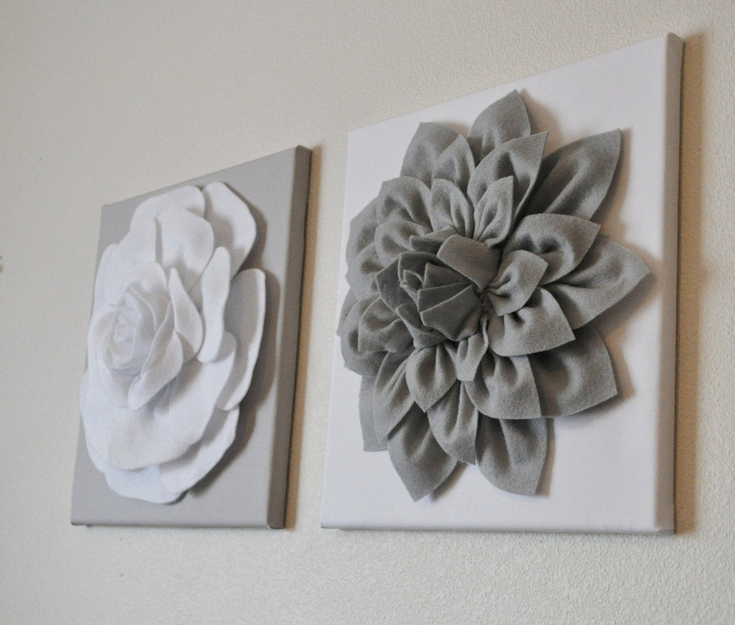 Wall Flowers Decor gray wall decor