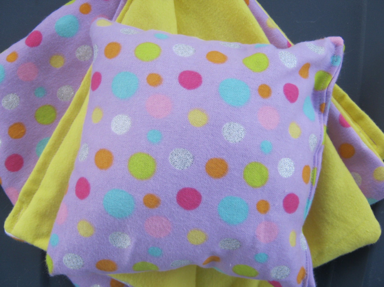 American Girl Doll Bedding Purple Polka Dot Blanket By