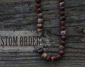 Raised from ashes - Custom pit fired ceramic beaded necklace - made to order