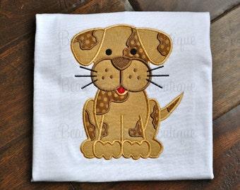 Cute Puppy Applique Embroidery design