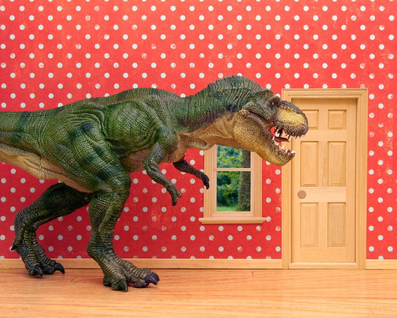 Items similar to dinosaur art for kids rooms boys and for T rex bedroom decor