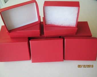 JEWELRY GIFT BOXES Red Embossed 3 x 2 x 1 (12)