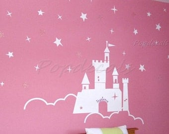 Castle Wall Decals Princess Wall Decals Girls Room Decals Baby Nursery Wall Decals- The Castle of the Princess
