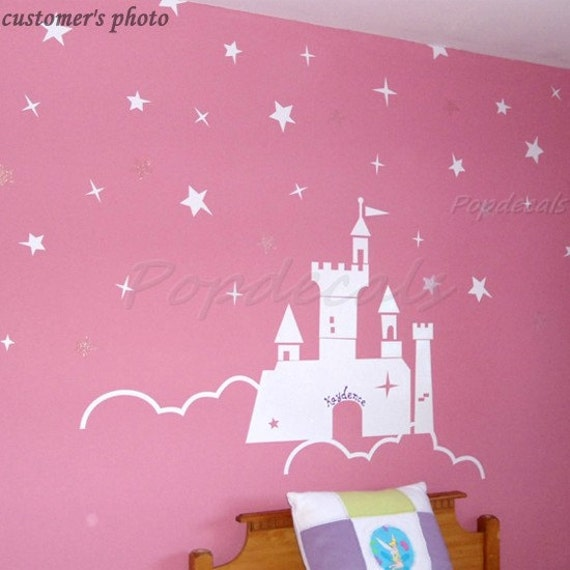 Items similar to Castle Wall Decals Princess Wall Decals Girls Room Decals  Baby Nursery Wall Decals- The Castle of the Princess on Etsy
