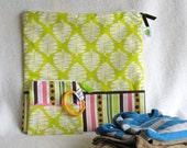 "Wet Bag Set, Diaper Bag Set, Baby Shower Gift Set  - 12"" x 12"" Wet Bag & 5"" Pacifier Pouch - Zippered, Reusable, Washable, Eco-Friendly"