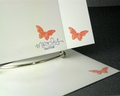 Stationery Flat Handmade Cards Butterfly Stationary 15 Note Cards With 10 Envelopes