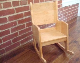 Child's Maple Rocking Chair
