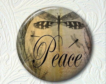 Pocket Mirror Dragonfly  Peace  Buy 3 get 1 Free 068