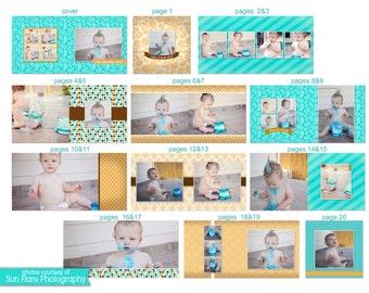 10x10 Baby Album template - Jack - 0724 FA