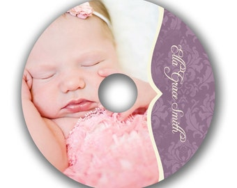 INSTANT DOWNLOAD -  Cd/DVD Label Photoshop template - 0521