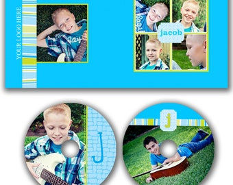 INSTANT DOWNLOAD -  Dvd Label and Dvd Case Photoshop template - W0508