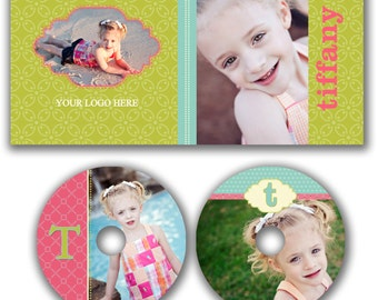 INSTANT DOWNLOAD -  Dvd Label and Dvd Case Photoshop template - W0510