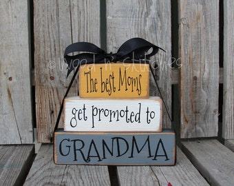 Dad Grandpa Grandma Nana Mom Gigi Mimi Father Papa Stacker wood blocks personalized Christmas  gift fathers day home decor.