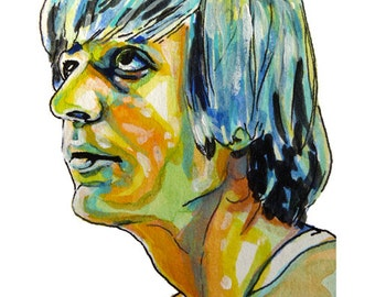 "Basketball Legend Pete ""Pistol"" Maravich Painting Reproduction Print 11 x 8.5"