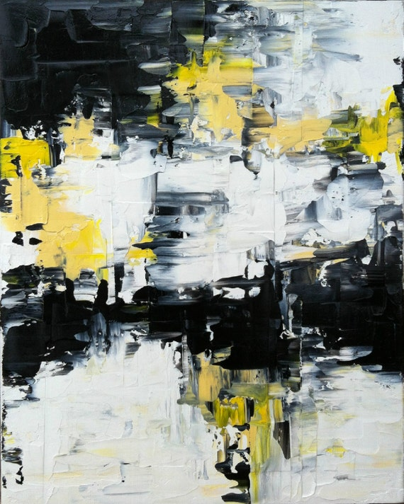Abstract Yellow Paintings Abstract Painting Urban Art