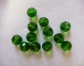 SALE!! Bead, Celestial Crystal, Glass, 48-Facet, Green, 6mm Faceted, Round, Pkg Of 12 SALE!!