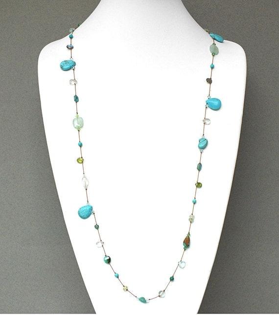 Mixed Semi-Precious Gemstone Necklace- NK 128