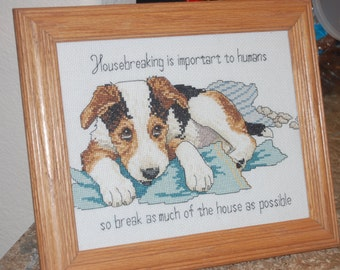 COMPLETED AND FRAMED - Housebreaking