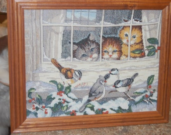 COMPLETED AND FRAMED - Bird Watching