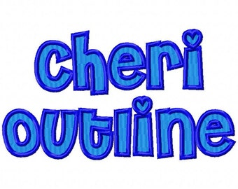 Cheri OL Font Filled Machine Embroidery Design INSTANT DOWNLOAD