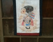 Primitive, Grungy, Patriotic, Mammy, Americana, God Bless America, Quilt, Hanging, OFG AB4B HAFAIR
