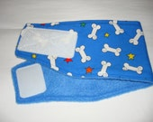 Male Dog Diaper / DOG BELLY BAND /  Bright Blue - Bad to the Bone - Available in all sizes