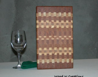 Wooden Cutting Board Endgrain Cheese or Sandwich Board