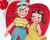 Vintage Moveable Childrens Classroom Valentines Day Card (044)