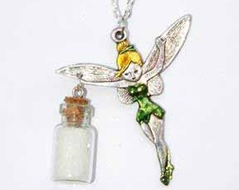 Hand Dyed Tinkerbell and Pixi Dust Necklace