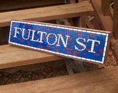 NYC Subway Mosaic Sign / Plaque - Fulton St. Mosaic Replica  - New York City Subway