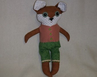 Barnaby the Big Eyed Fox Doll