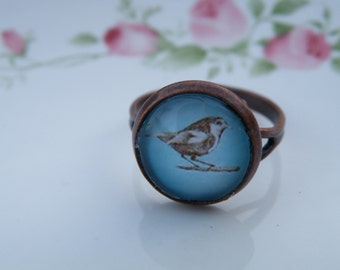50% off this item, enter LOVE99 at checkout, Tiny Bird Ring, Easter, Christmas Gift, Ring, Statement Ring, Christmas Gift
