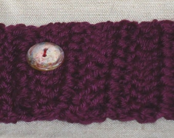 Wine Crochet Headband Ear Muff