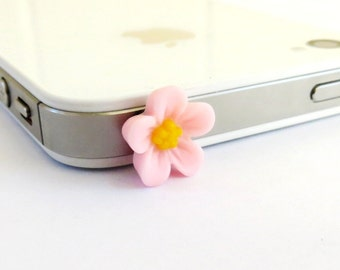 Pink iPhone Dust Plug Flower- Cellphone/ iPhone Accessories- Pink Japaneses Blossom