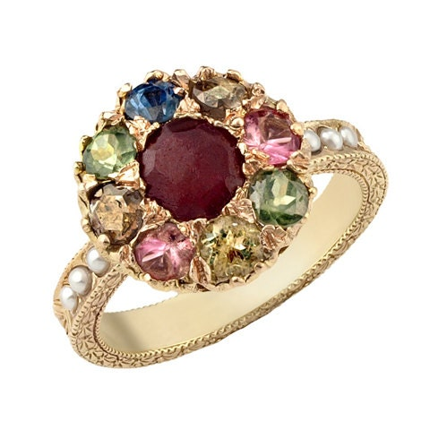 Mixed Stone Flower Inspired 18k Gold Engagement Ring. Camouflage Rings. Chain Rings. Symbolism Engagement Rings. Gold Pair Wedding Rings. Sphere Wedding Rings. Shape Wedding Rings. Coiled Snake Rings. Bible Engagement Rings
